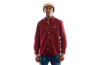 Foto van Carhartt Blouse L/S Madison Shirt Bordeaux / Wax I023339