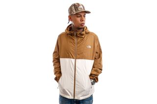 Foto van The North Face Jas Mens Cyclone Jacket Brown/Off-White NF0A55STG4L1