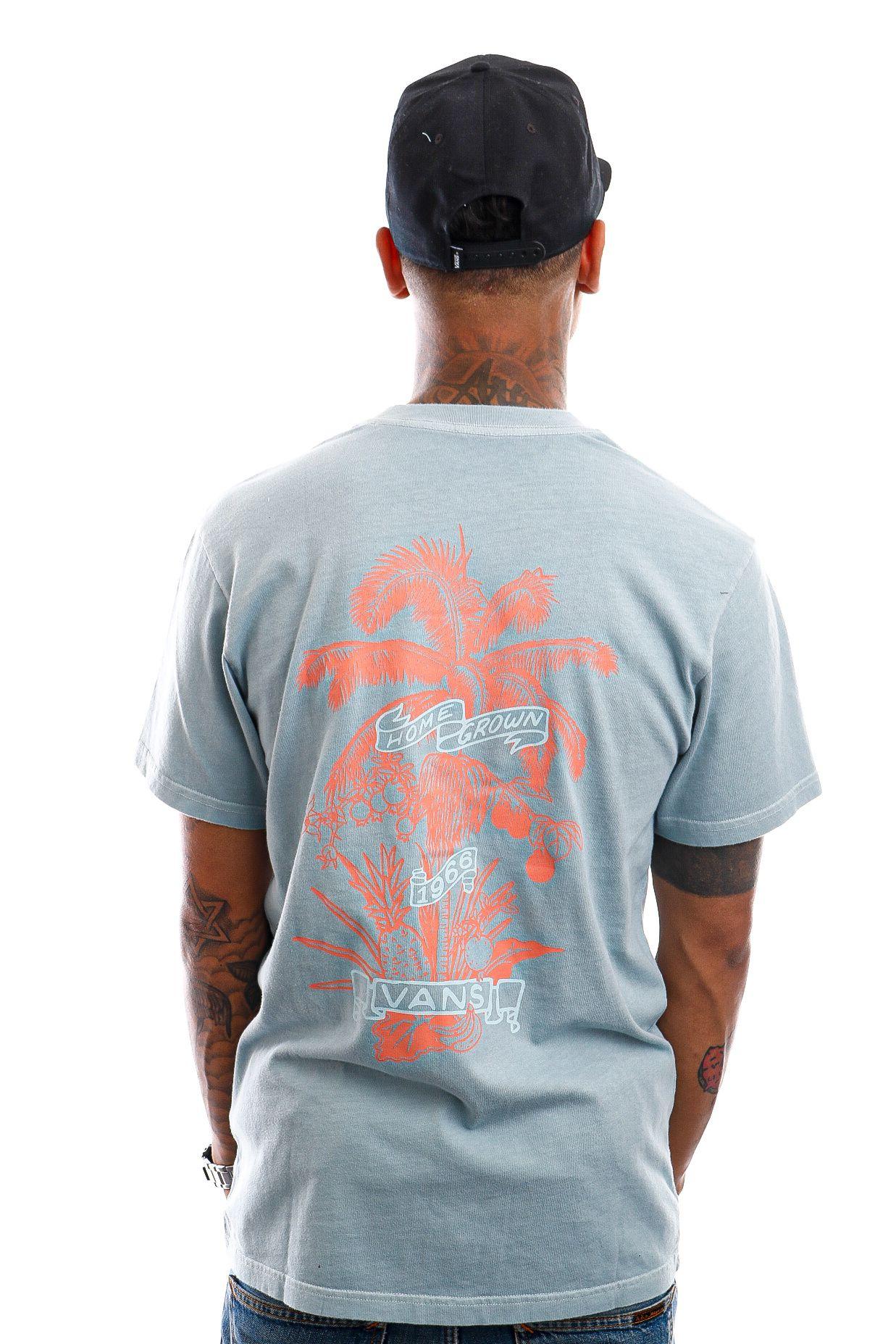 Afbeelding van Vans T-Shirt Market Print Cameo Blue VN0A5E7DSQE1