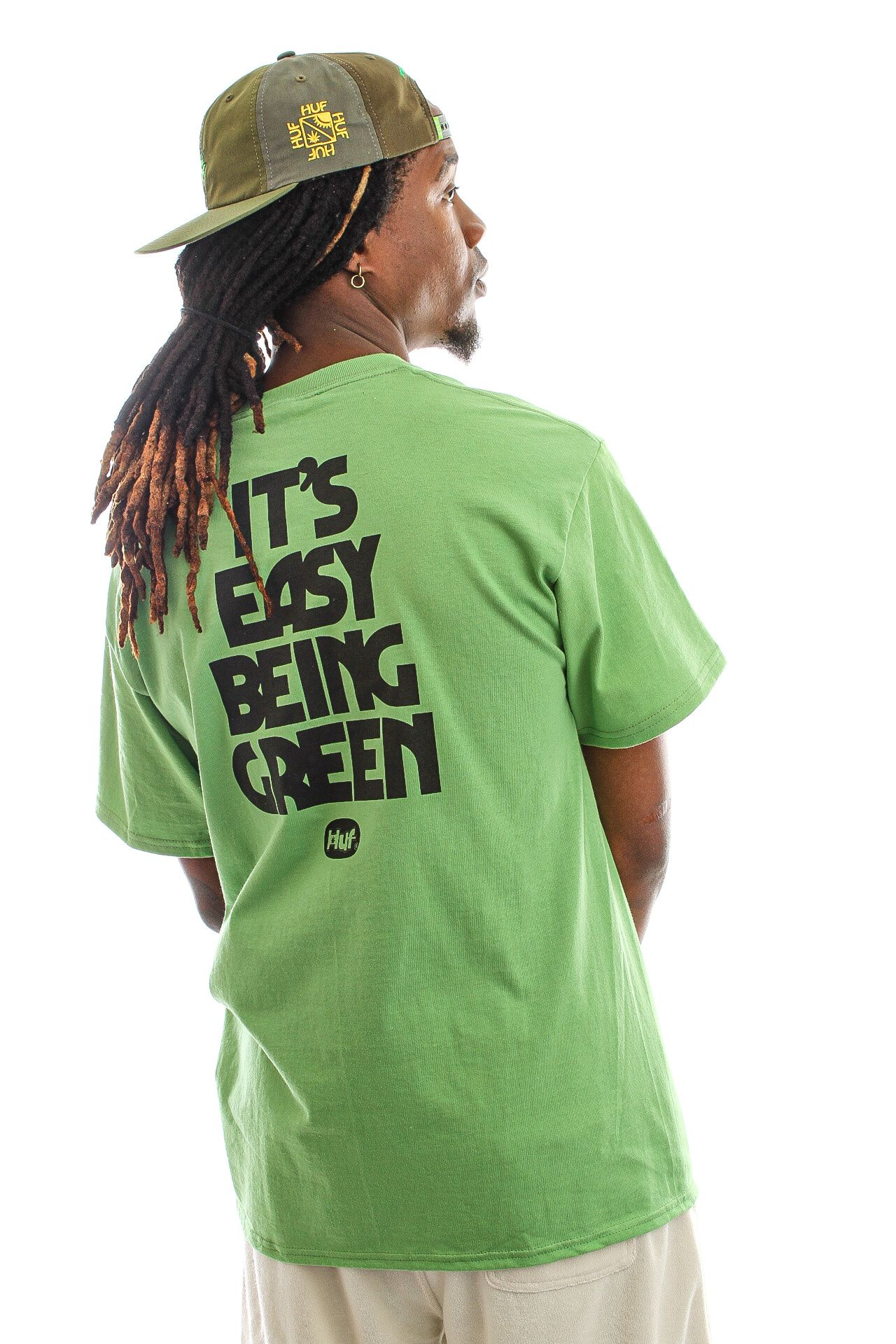 Afbeelding van HUF T-shirt Easy Green S/S Tee Dill Green TS01605