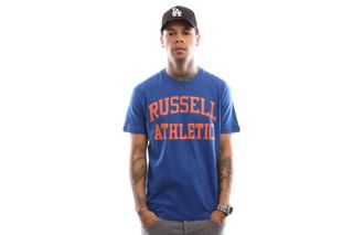 Foto van Russell Athletic Iconic Short Sleeve A9-002-1 T Shirt Mazarine Blue