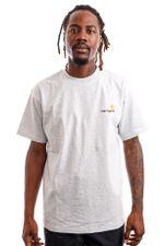 Carhartt WIP T-shirt Carhartt S/S American Script Ash Heather I029007