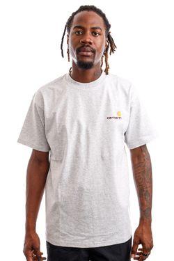 Afbeelding van Carhartt WIP T-shirt Carhartt S/S American Script Ash Heather I029007