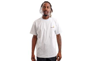 Foto van Carhartt WIP T-shirt Carhartt S/S American Script Ash Heather I029007