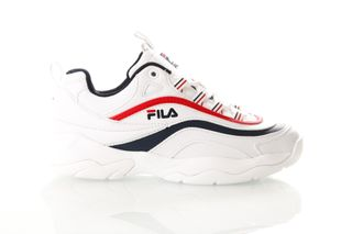 Foto van Fila Ray Low Wmn 1010562 Sneakers White/Fila Navy / Fila Red