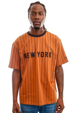 Afbeelding van New Era Tops New Era Oversized NY Pinestripe Tee TOFBLK 12720111