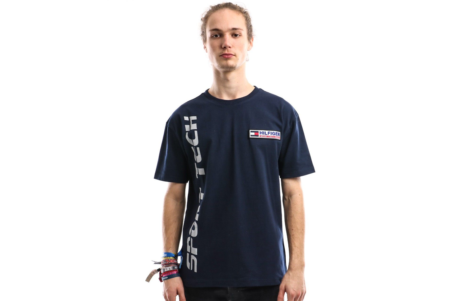 Afbeelding van Tommy Hilfiger T Shirt Tjm Sport Tech Logo Tee M7 Navy Blazer DM0DM07628