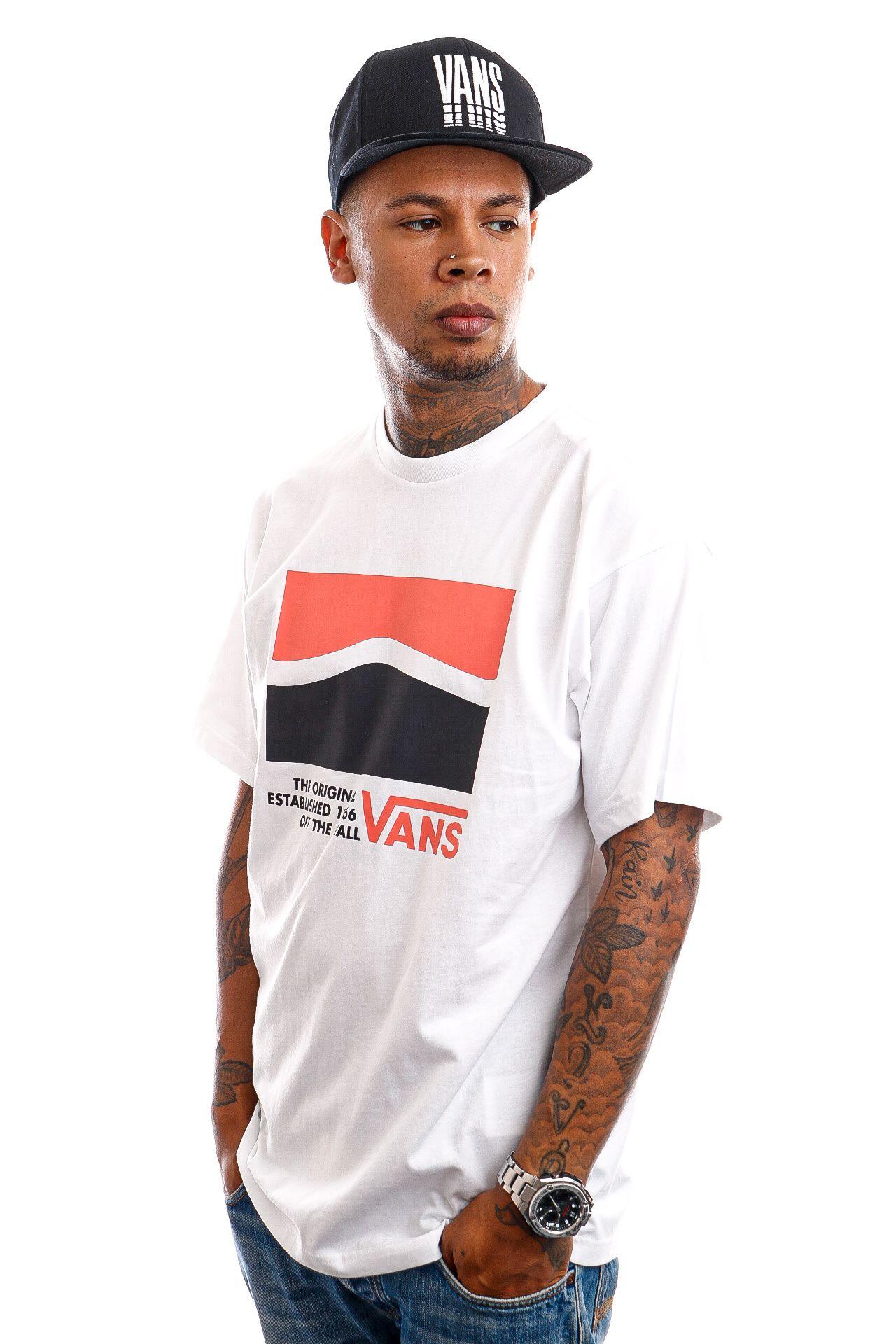 Afbeelding van Vans T-Shirt Original DNA Side White VN0A5E7UWHT1