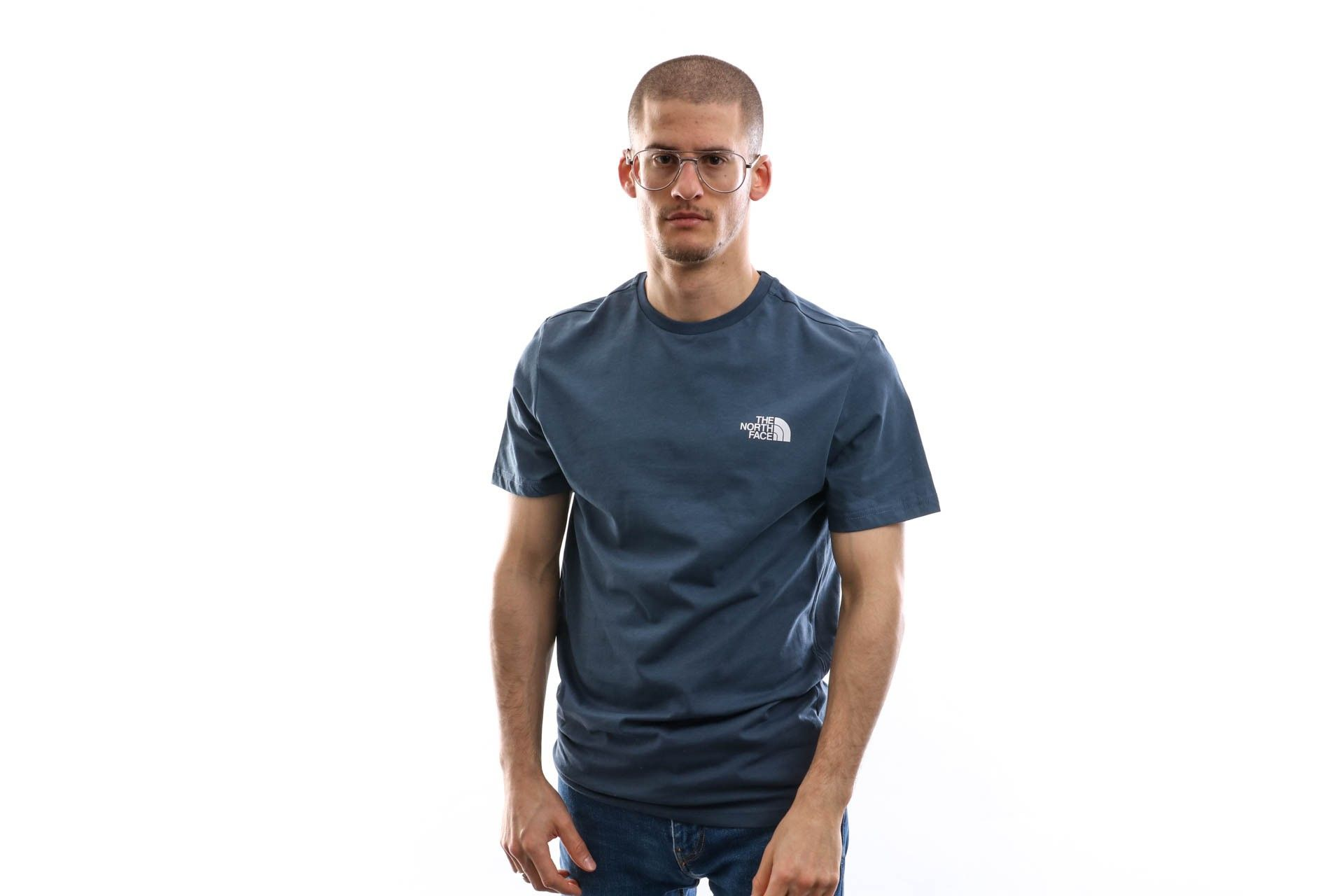 Afbeelding van The North Face T-shirt Men'S S/S Simple Dome Tee Bluewing Teal NF0A2TX5N4L
