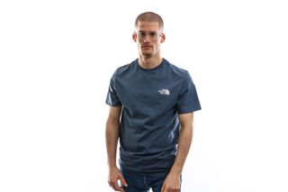 Foto van The North Face T-shirt Men'S S/S Simple Dome Tee Bluewing Teal NF0A2TX5N4L