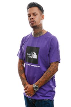 Afbeelding van T-Shirt Men's S/S Raglan Redbox Tee Peak Purple NF0A3BQONL41