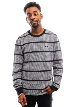 Afbeelding van HUF Long Sleeve Houndstooth Stripe L/S Knit Black Kn00207-Black