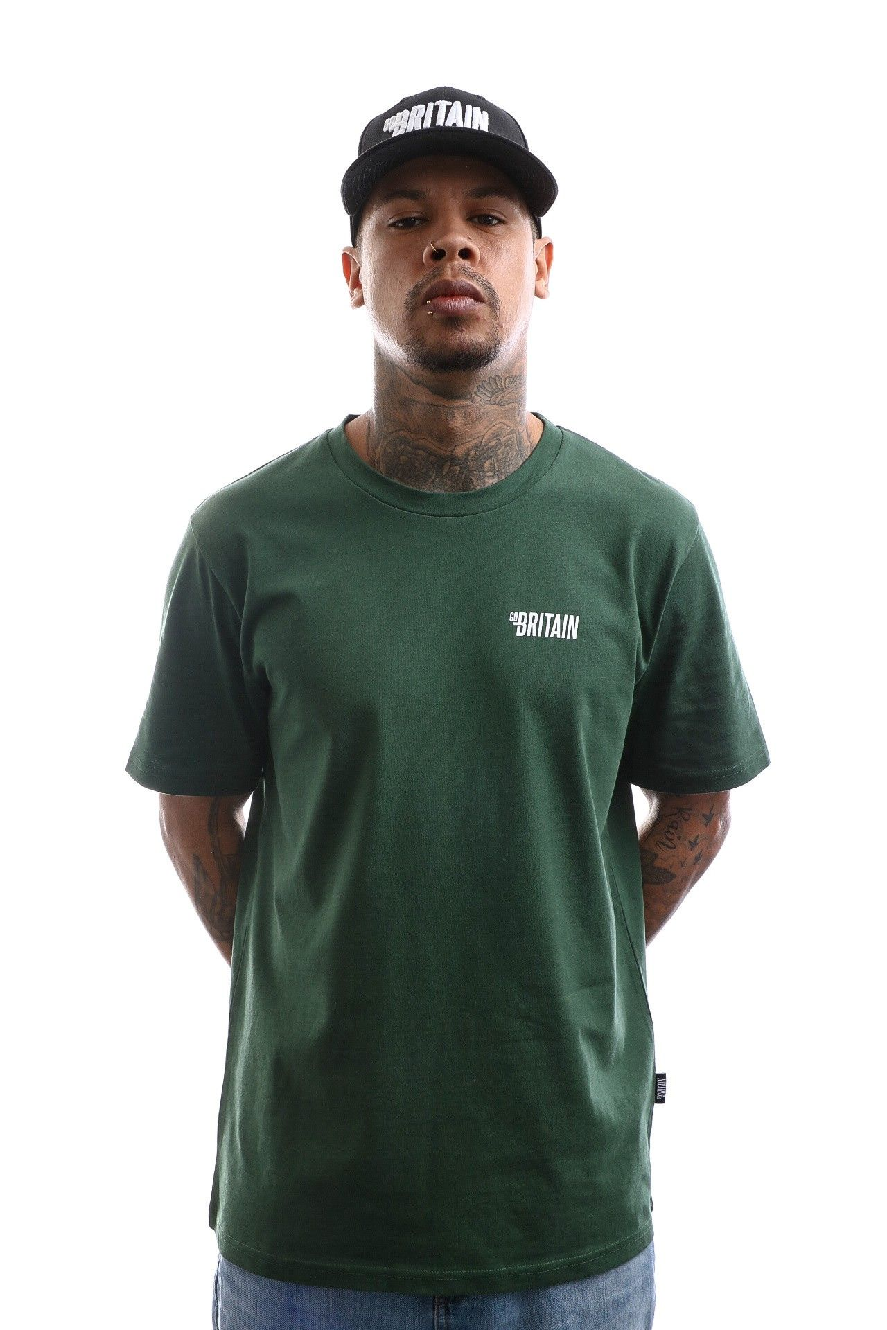 Afbeelding van Go-Britain T-shirt Croydon Tee Green GB.20.Q1.02