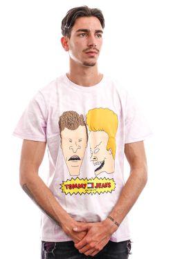 Afbeelding van Tommy Jeans T-shirt TJU X BEAVIS AND BUTTHEAD Tie Dye / Lilac Dawn DM0DM12194