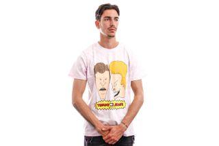 Foto van Tommy Jeans T-shirt TJU X BEAVIS AND BUTTHEAD Tie Dye / Lilac Dawn DM0DM12194