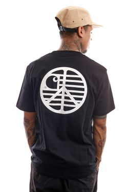 Afbeelding van Carhartt T-shirt S/S Peace State T-Shirt Black / White I028931