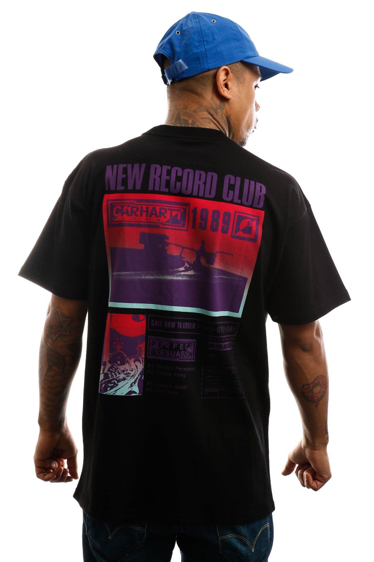 Afbeelding van Carhartt T-shirt S/S Record Club T-Shirt Black I027764