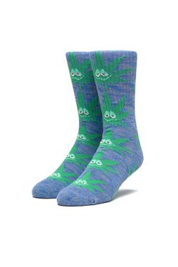 Afbeelding van HUF Sokken Green Buddy Sock French Navy SK00489