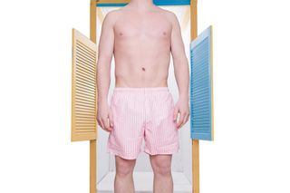 Foto van Pockies Swimshort Salou Pink / White
