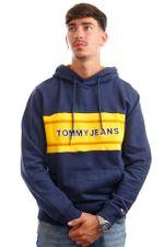 Tommy Jeans Hoodie TJM PIECED BAND LOGO Twilight Navy / Multi DM0DM09651