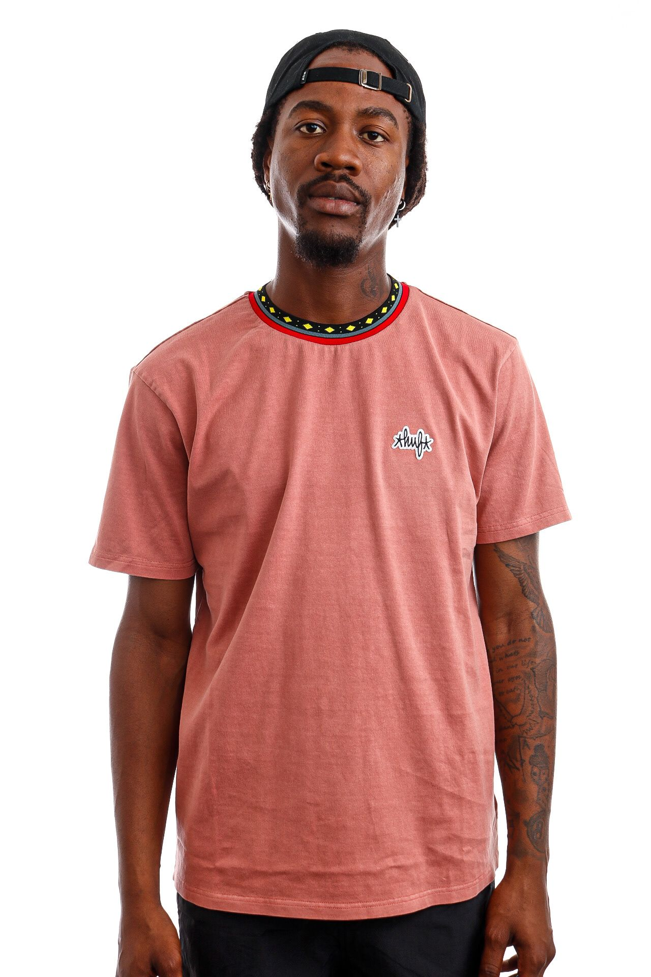 Afbeelding van HUF T-Shirt HUF TOBIAS S/S KNIT Dusty Rose KN00288