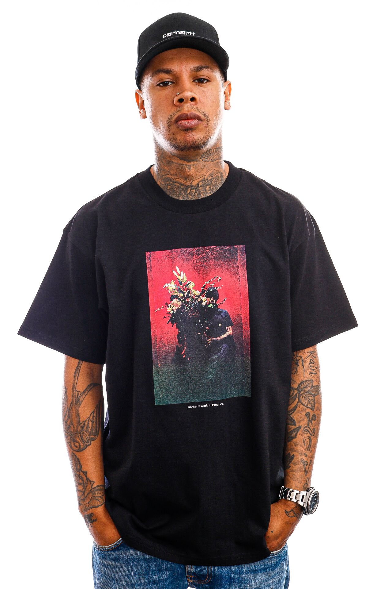 Afbeelding van Carhartt T-shirt S/S Bouquet T-Shirt Black I029936