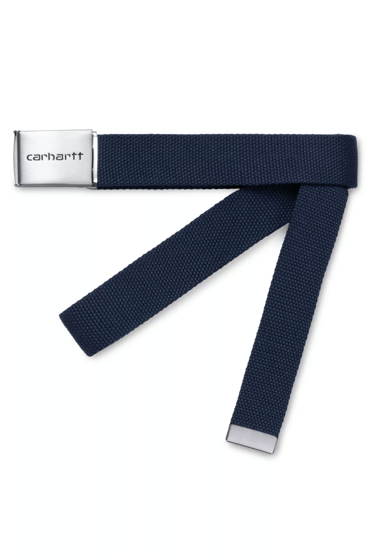 Afbeelding van Carhartt Riem Clip Belt Chrome Dark Navy I019176