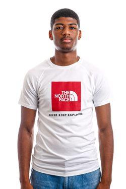 Afbeelding van T-Shirt Men's S/S Raglan Redbox Tee White/Red NF0A3BQOLB11