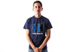 Foto van Helly Hansen 53165-503 T-Shirt Hh Logo Blauw