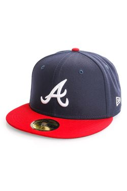 Afbeelding van New Era Atlanta Braves Fitted Cap MLB AC PERF 59FIFTY Navy/White/Red 12572848