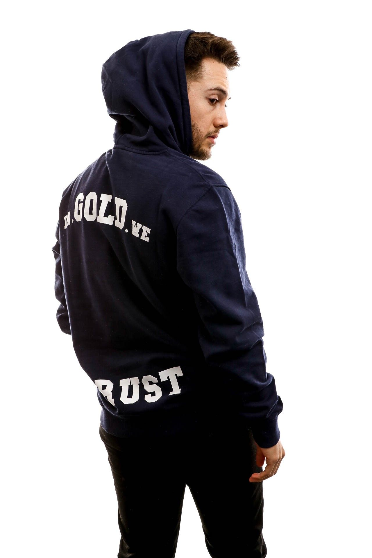 Afbeelding van In Gold We Trust Hooded The Notorious Dark blue IGWTH-011-DB