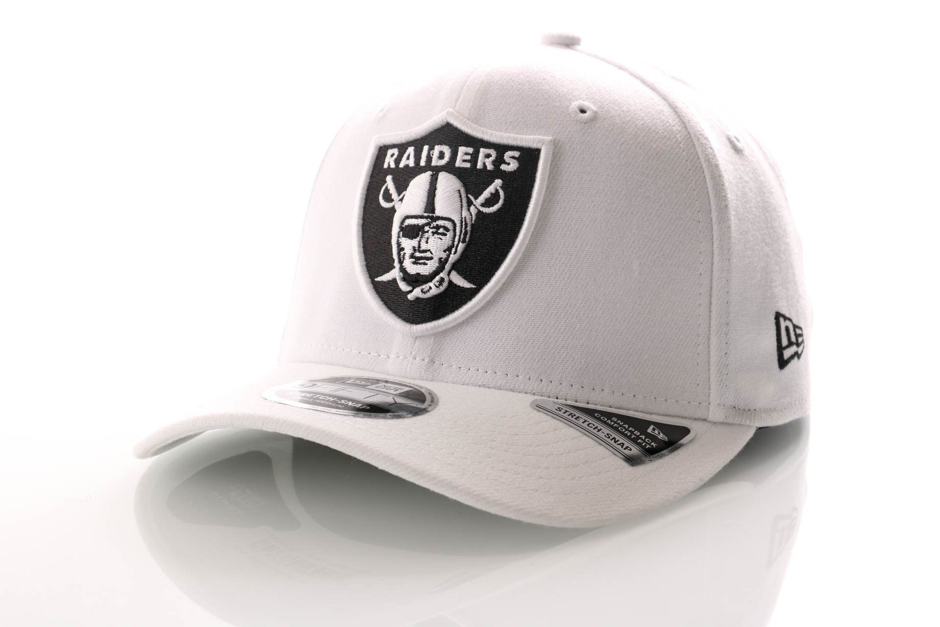 Afbeelding van New Era Snapback Cap Oakland Raiders White Base Stretch Snap 9Fifty 12040167