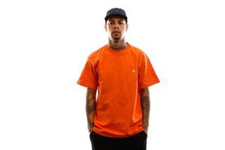 Foto van Carhartt T-shirt S/S Chase T-Shirt Clockwork / Gold I026391