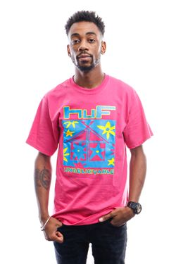 Afbeelding van HUF T-Shirt Deep House S/S Tee Coral Ts01160-Coral