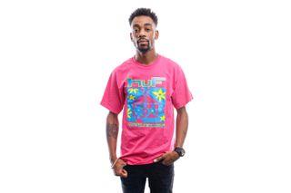 Foto van HUF T-Shirt Deep House S/S Tee Coral Ts01160-Coral