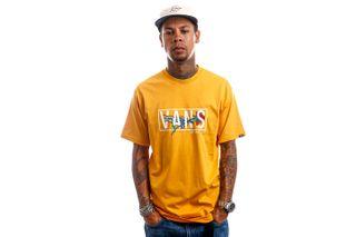 Foto van Vans T-Shirt MN THORNED SS Golden Glow VN0A5KCMLSV1