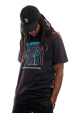 Afbeelding van The Quiet Life T-shirt New Age Rhythms Tee Black QL-21SPD2-2130