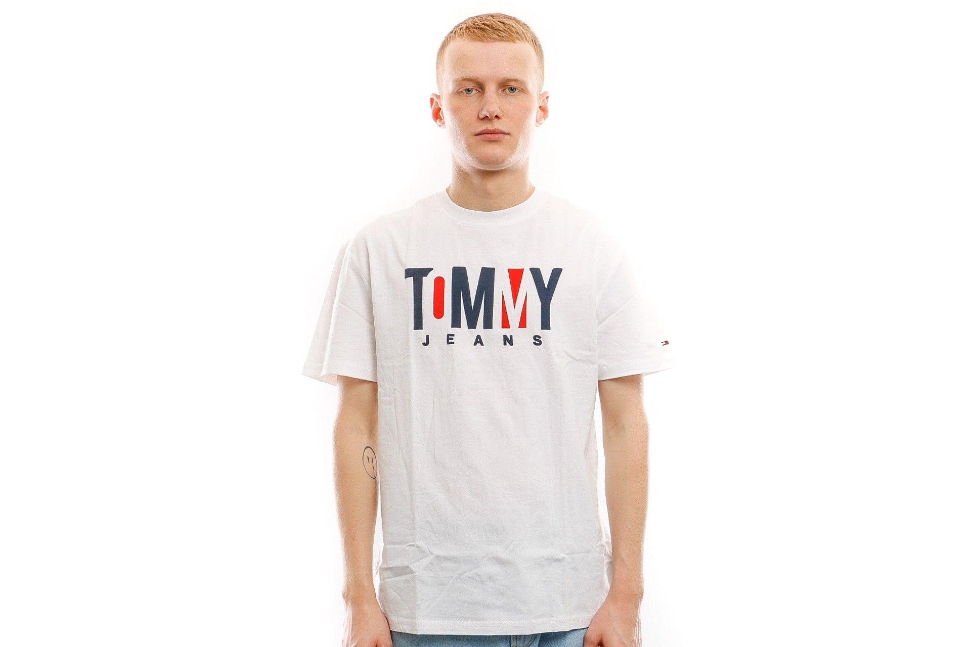 Afbeelding van Tommy Hilfiger T Shirt Tjm Contrast Logo Te Classic White DM0DM06508100