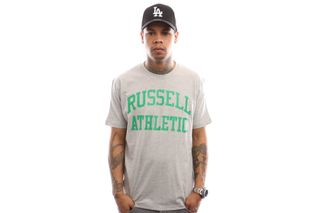 Foto van Russell Athletic Iconic Short Sleeve A9-002-1 T Shirt New Grey Marl