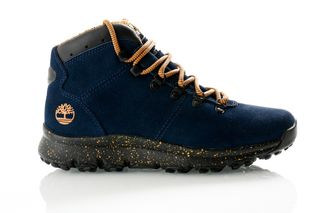Foto van Timberland Navy Suede Tb0A21770191 Sneakers World Hiker Mid
