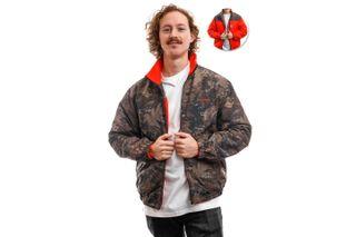 Foto van Carhartt Jacket Denby Reversible Jacket Camo Combi / Safety Orange I028094