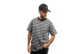 Foto van Carhartt T-shirt S/S Scotty Pocket T-Shirt Scotty Stripe, Black / Wax I027732