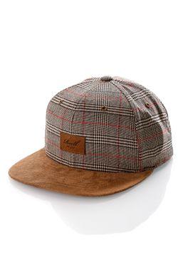 Afbeelding van Reell Snapback cap Suede Cap Sand Check 1402-038