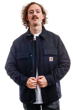 Afbeelding van Carhartt Jacket Wool Arctic Coat Dark Navy I028124