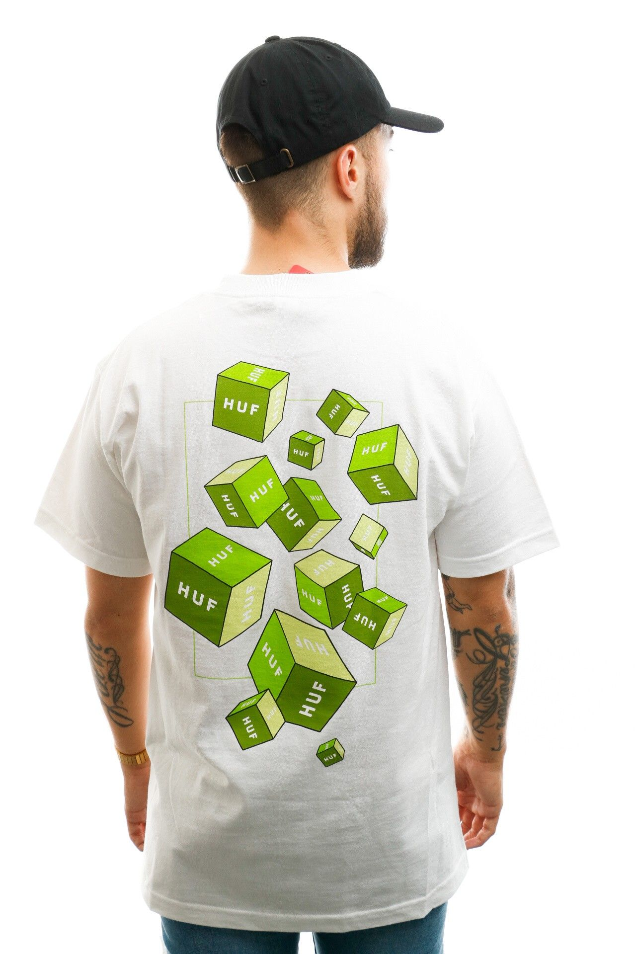 Afbeelding van HUF T-shirt Huf 3D Box S/S Tee White TS01017-WHITE