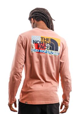 Afbeelding van The North Face Long Sleeve Men's L/S Graphic Tee Pink Clay NF0A4M95R131