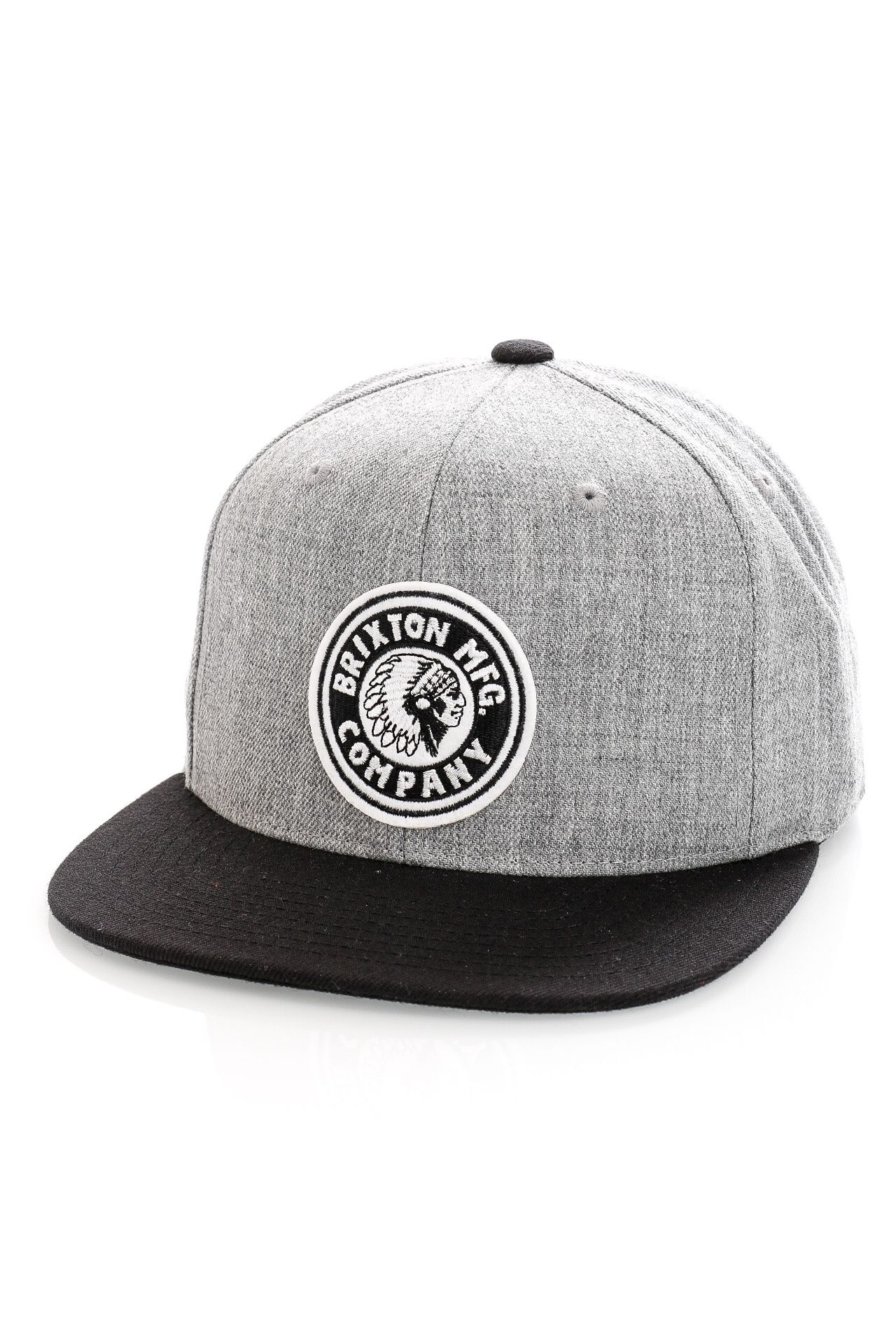 Afbeelding van Brixton Snapback Rival MP Snapback Heather Grey/Black/Black 10856