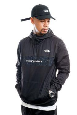 Afbeelding van The North Face Hooded Men's Train N Logo 1/4 Zip Hoodie Black NF0A4M9XJK31