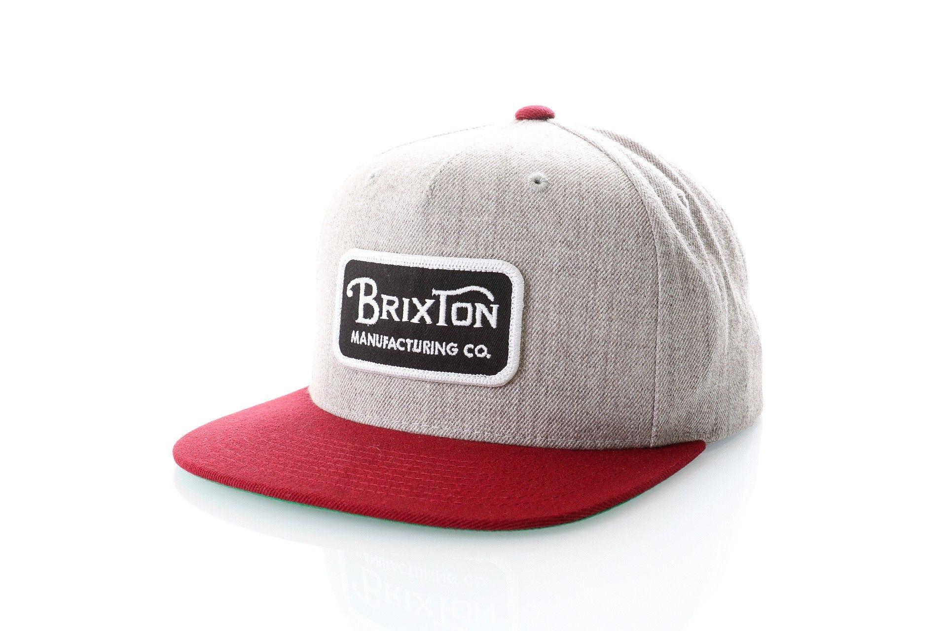 Afbeelding van Brixton Snapback Cap Grade Snapback Light Heather Grey/Burgundy 231