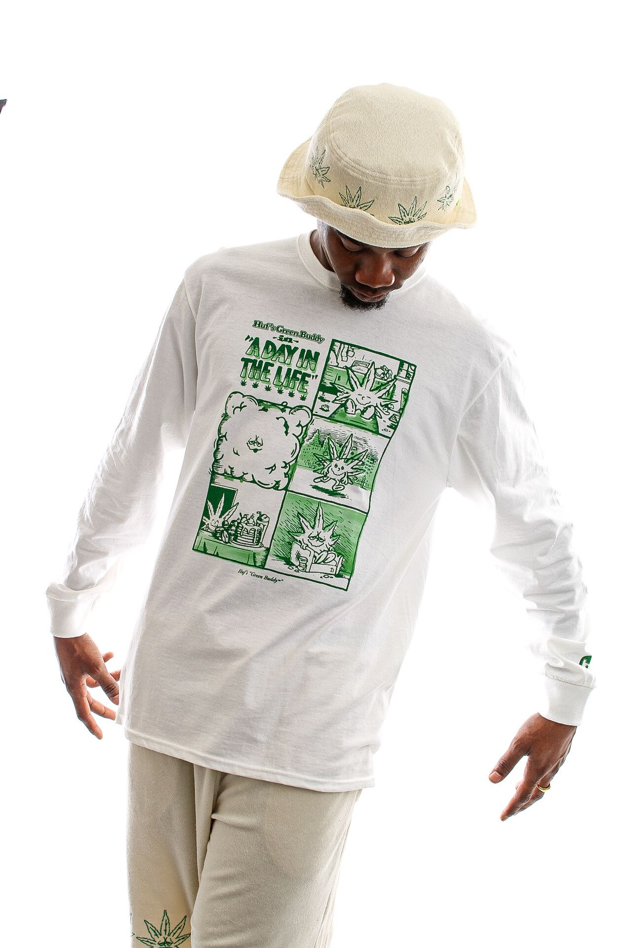 Afbeelding van HUF Longsleeve Day In The Life L/S Tee White TS01604
